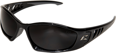 Edge Baretti Safety Glasses ~ Black Frame, Smoke Lens
