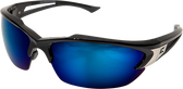 Edge Khor Safety Glasses ~ Blue Mirror Lens