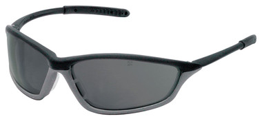 Crews Shock Safety Glasses ~ Onyx Frame with Fog Free Smoke Lens