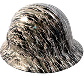 White Flame Hydro Dipped Hard Hats Full Brim Style
