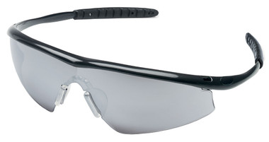 Crews Tremor Glasses ~ Onyx Frame ~ Silver Mirror Lens