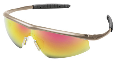 Crews Tremor Glasses ~ Taupe Frame ~ Fire Lens