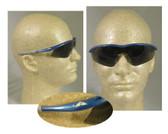 Crews Tremor Glasses ~ Indigo Blue Frame ~ Smoke Lens