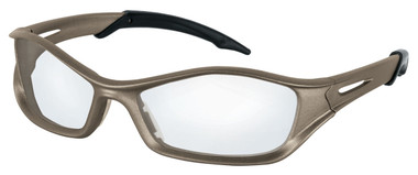 Crews Tribal Safety Glasses ~ Champagne Frame ~ Clear Anti-Fog Lens