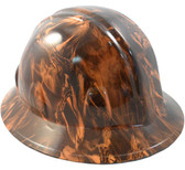 Venom Snake Orange Hydro Dipped Hard Hats Full Brim Style