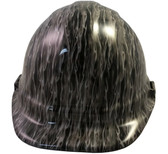 Silver Flame Hydro Dipped Hard Hats Cap Style