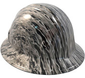 Silver Flame Hydro Dipped Hard Hats Full Brim Style