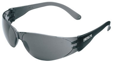 Crews Checklite Safety Glasses ~ Grey Lens/Grey Temples