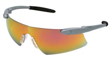 Crews Desperado Safety Glasses ~ Silver Frame - Fire Lens
