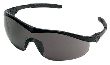 Crews Storm Safety Glasses ~ Black Frame and Smoke Lens