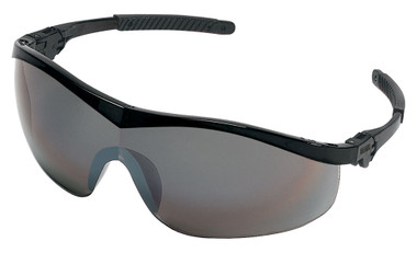 Crews Storm Safety Glasses ~ Black Frame and Silver Mirror Lens