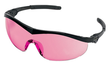 Crews Storm Safety Glasses ~ Black Frame and Vermillion Lens