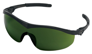 Crews Storm Safety Glasses ~ Black Frame and 3.0 Lens (ST1130)