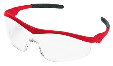 Crews Storm Safety Glasses ~ Red Frame and Clear Lans