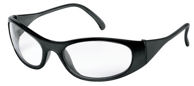 Frostbite Storm II Safety Glasses ~ Black Frame and Clear Lens