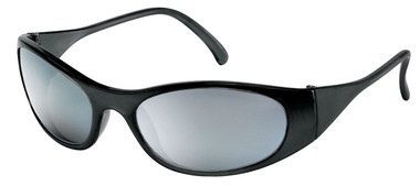 Frostbite Storm II Safety Glasses ~ Black Frame and Silver Mirror Lens
