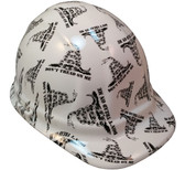 Don't Tread On Me White Hydro Dipped Hard Hats Cap Style