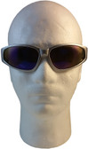 Smith and Wesson 38 Special Safety Glasses Silver Frame w/ Blue Mirror Lens