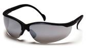 Pyramex Venture II ~ Black Frame ~ Silver Mirror Lens