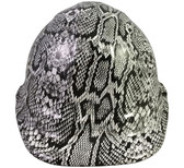 Snakeskin White Hydro Dipped Hard Hats Cap Style