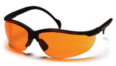 Pyramex Venture II ~ Black Frame ~ Orange Lens