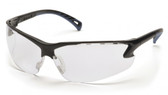 Pyramex Safety Glasses ~ VENTURE III ~ Black Frame ~ Fog Free Clear Lens