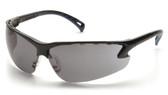 Pyramex Safety Glasses ~ VENTURE III ~ Black Frame ~ Fog Free Smoke Lens
