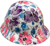 Flower Hydro Dipped Hard Hats Full Brim Style