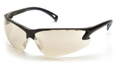 Pyramex Safety Glasses ~ VENTURE III ~ Black Frame ~ Indoor Outdoor Lens