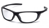 Pyramex Safety Glasses ~ Azera ~ Black Frame ~ Clear Lens