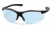 Pyramex Fortress Safety Glasses ~ Black Frame ~ Infinity Blue Lens