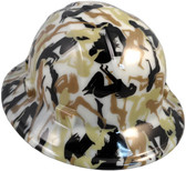 Bootie Girl Hydro Dipped GLOW IN THE DARK Hard Hats Full Brim Style with Ratchet Suspensions