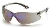 Pyramex ITEK Safety Glasses ~ Blue Mirror Lens