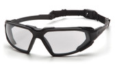 Pyramex Highlander Safety Glasses ~ Black Frame - Clear Anti-Fog Lens