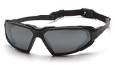 Pyramex Highlander Safety Glasses ~ Black Frame - Gray Anti-Fog Lens