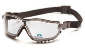 Pyramex V2G Goggles ~ Fog Free Clear Lens ~ 1.5 Magnification