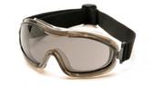 Pyramex Capstone ~ Low Profile Goggles ~ Smoke Lens