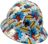 Spider Man Hydro Dipped Hard Hats Full Brim Style