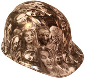 Real Zombie Hydro Dipped Hard Hats Cap Style - White