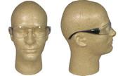 ERB Boas Wraparounds ~ Safety Glasses ~ Smoke Frame - Clear Lens