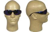 ERB Boas Wraparounds ~ Safety Glasses ~ Blue Mirror Lens