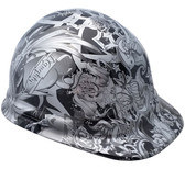 Tattoo Silver Hydro Dipped Hard Hats Cap Style