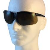 Uvex Genesis Safety Glasses ~ Black Frame ~ Espresso Lens
