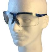 Uvex Genesis Safety Glasses ~ Vapor Blue Frame ~ Clear Lens