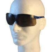 Uvex Genesis Safety Glasses ~ Vapor Blue Frame ~ Espresso Lens