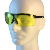 Uvex Genesis Safety Glasses ~ Black Frame ~ Amber Lens