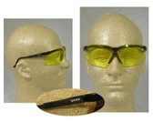 Uvex Genesis Safety Glasses ~ Black Frame ~ Amber Lens