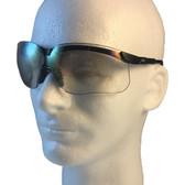 Uvex Genesis Safety Glasses ~ Black Frame ~ Indoor Outdoor Lens