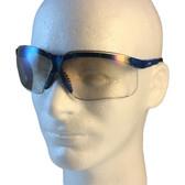 Uvex Genesis Safety Glasses ~ Vapor Blue Frame ~ IO Lens