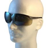 Uvex Genesis Safety Glasses ~ Earth Frame ~ Gold Mirror Lens